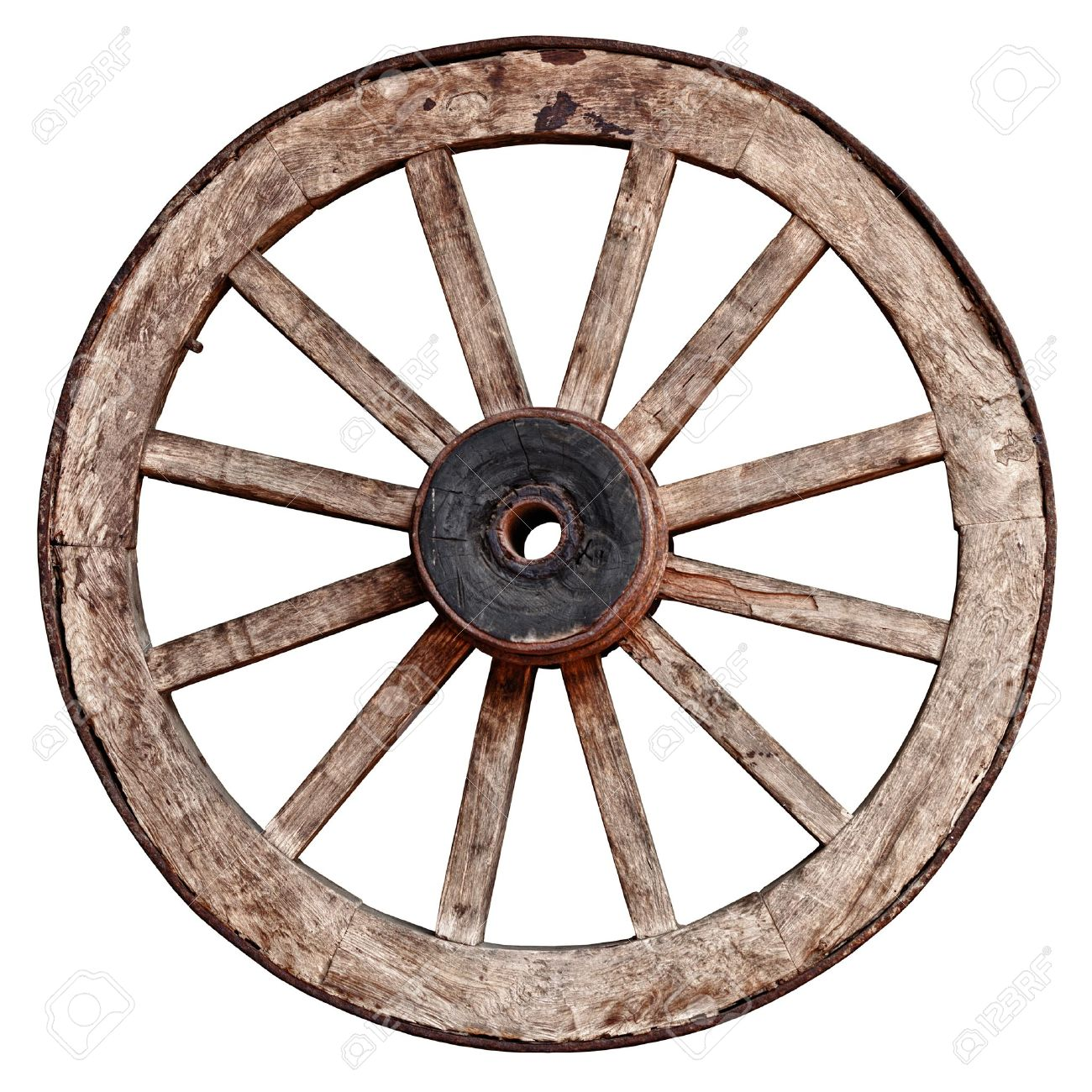 Old wooden wagon wheel isolated on white background stock photo old wooden wagon wheel isolated on white background stock photo 19743640 publicscrutiny Choice Image