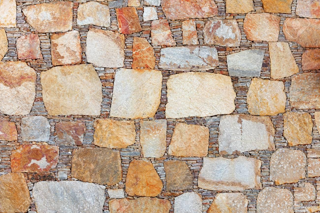 Hintergrund   Eine Braune Wand Aus Naturstein Standard Bild   21179578