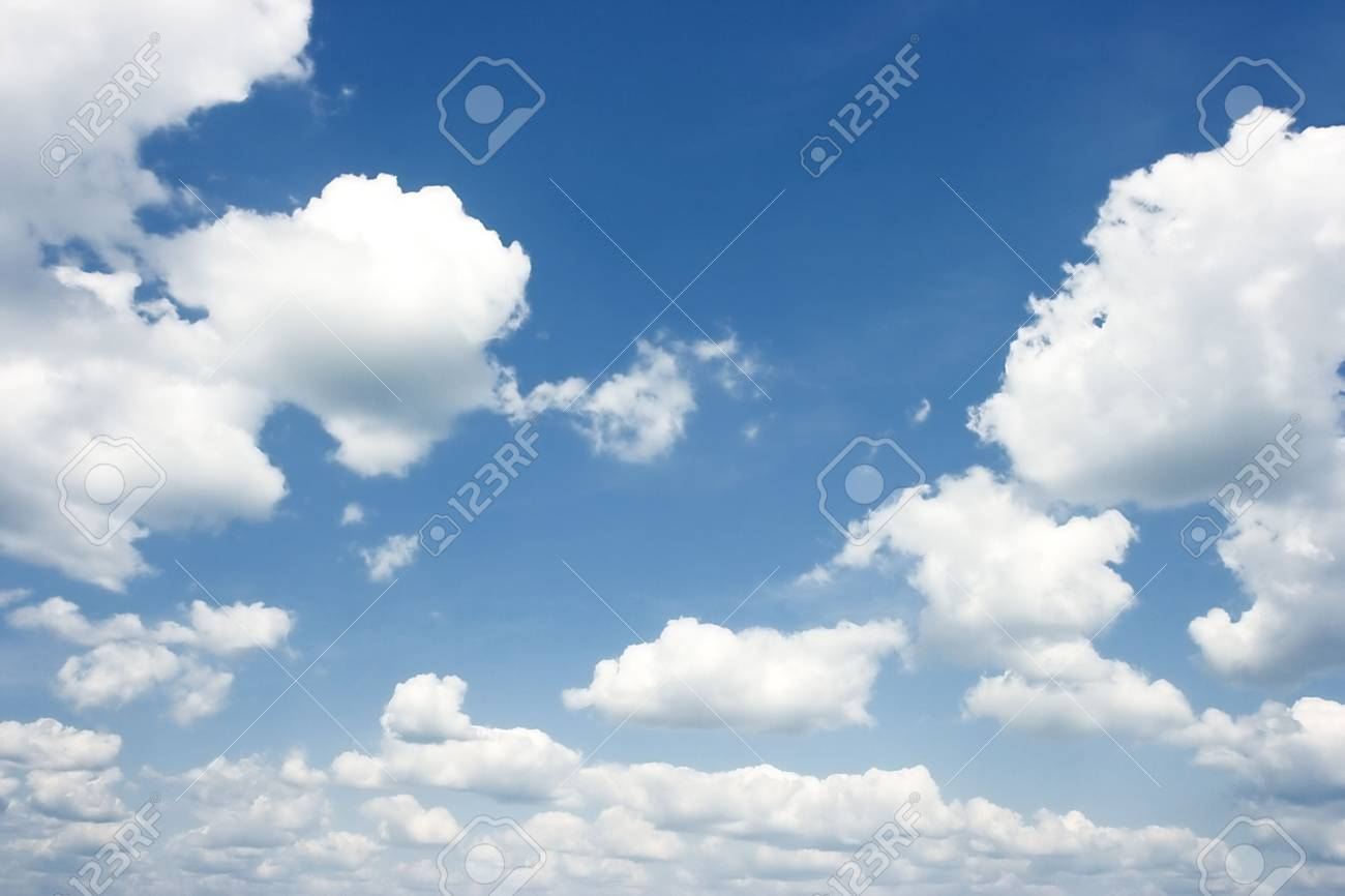 The dark blue summer sky with white clouds Stock Photo - 5658675