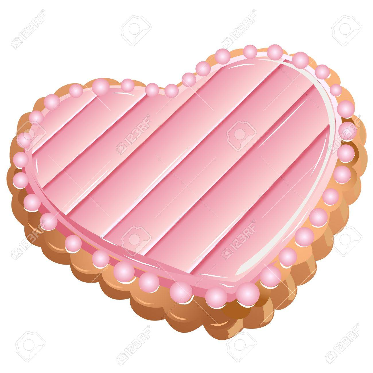 Vector illustration. A beautiful heart-shaped cookies. Stock Vector - 8603077