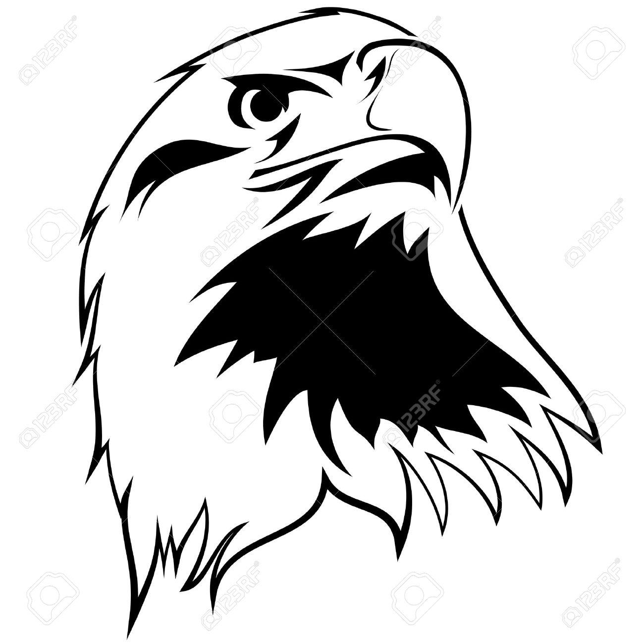 Imagen Estilizada De Un águila Tatuaje En Blanco Y Negro