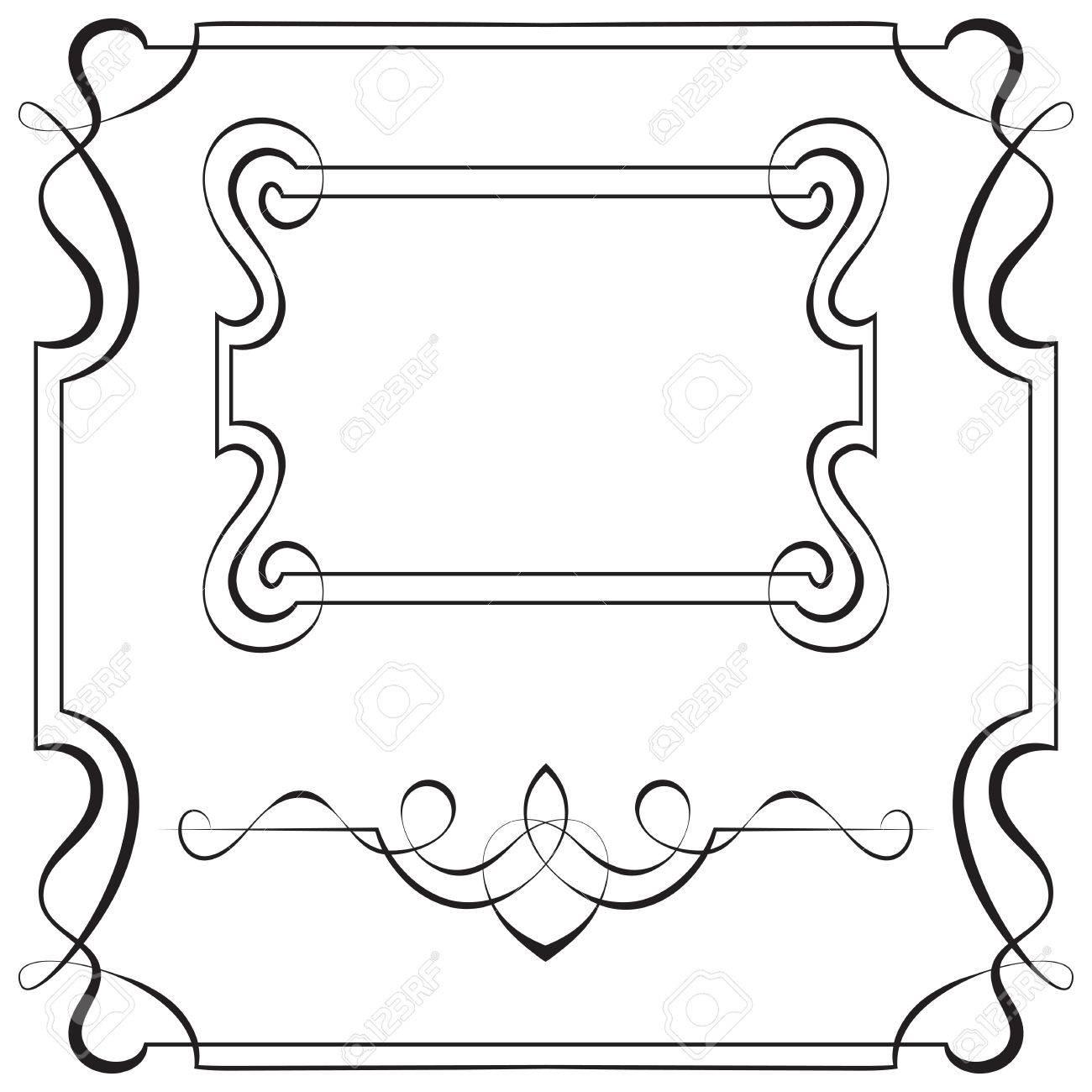 Conjunto De Marcos De Vectores Ornamentales Para El Diseño ...