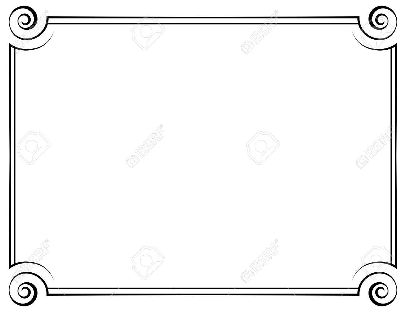 Vektor Horizontalen Rahmen. Element Für Grafik-Design Lizenzfrei ...