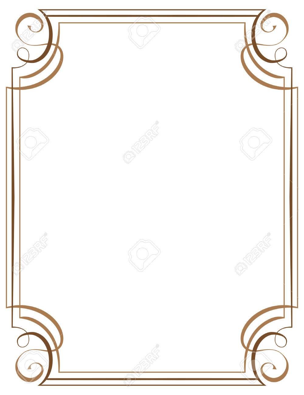 Vector Marco Vertical. Elemento Para El Diseño Gráfico Ilustraciones ...
