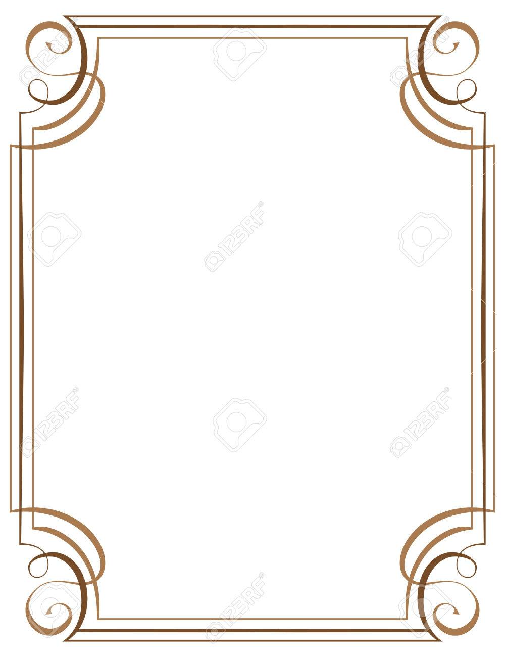 Vector Vertical Frame. Element For Graphic Design Royalty Free ...