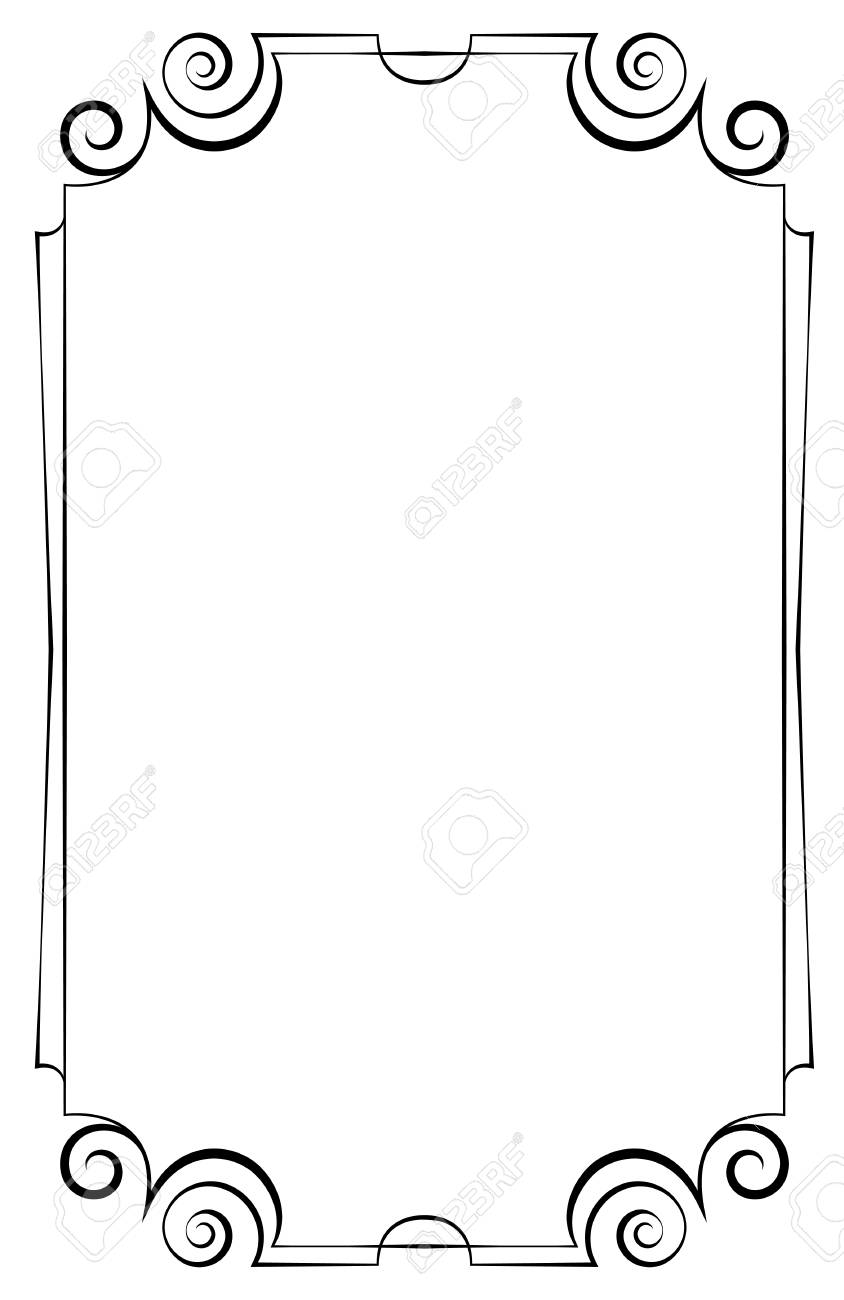 Elegant Vector Vertical Frame On A White Background Royalty Free ...