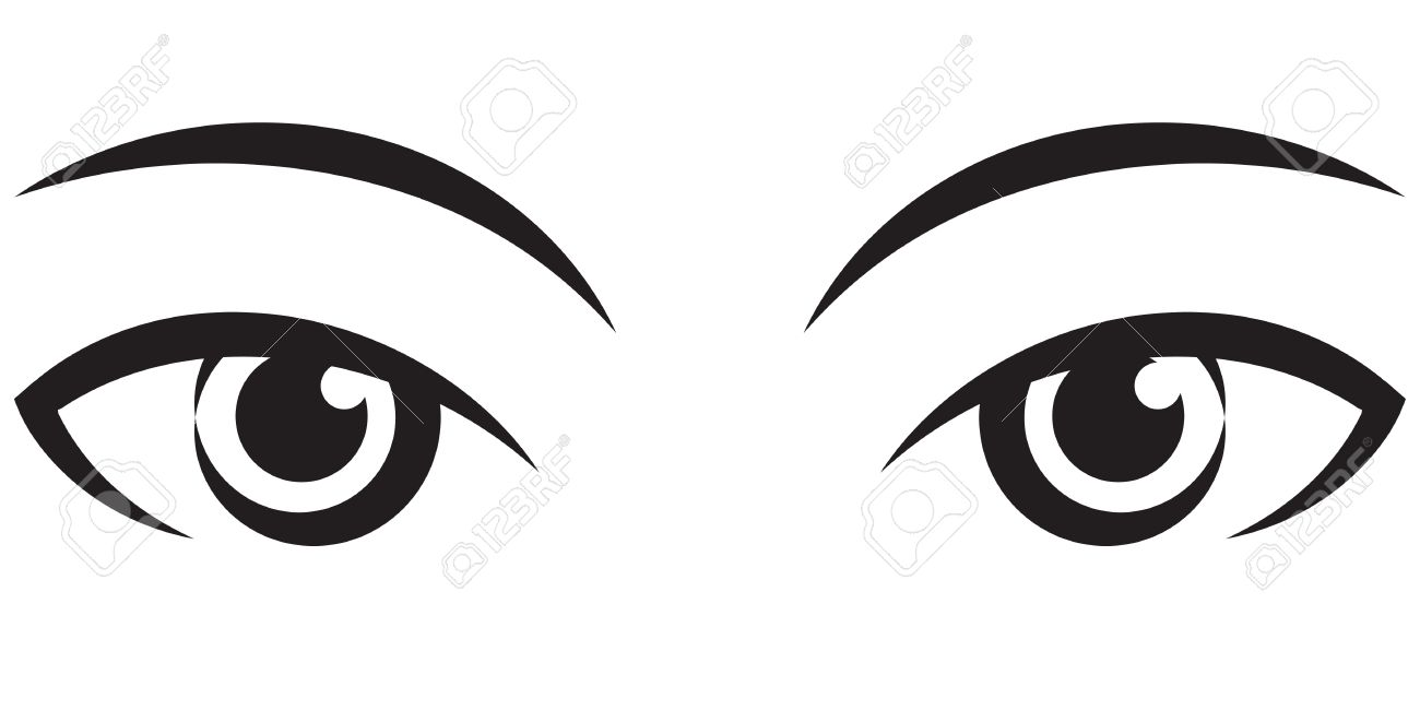 pair female expressive eyes vector black icon royalty free cliparts rh 123rf com eye vector glsl eyes vector clip art