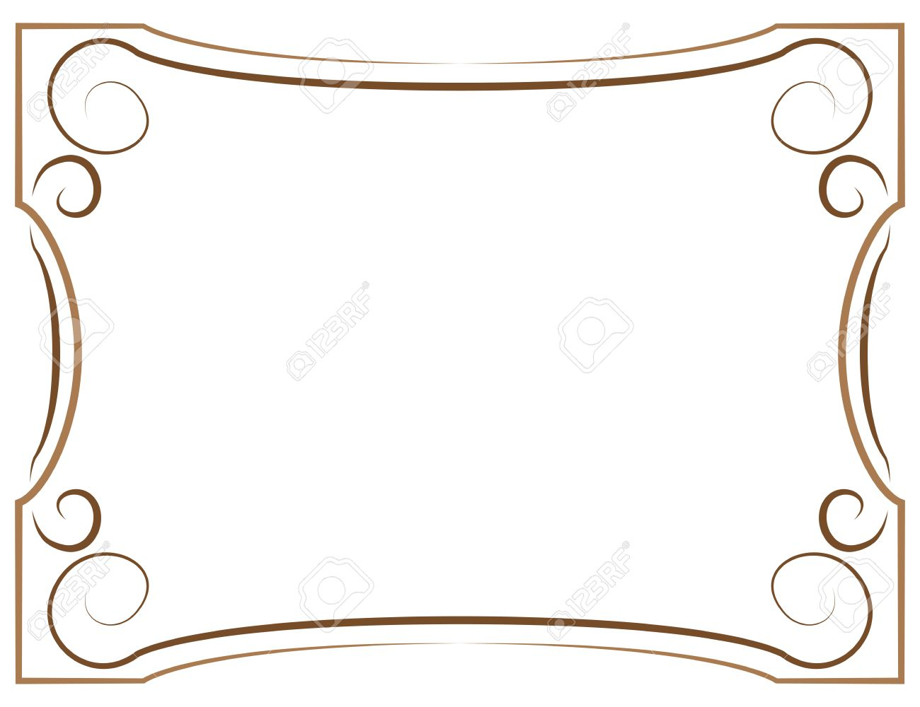 multilayer vector elegant brown frame on a white background stock vector 42004943