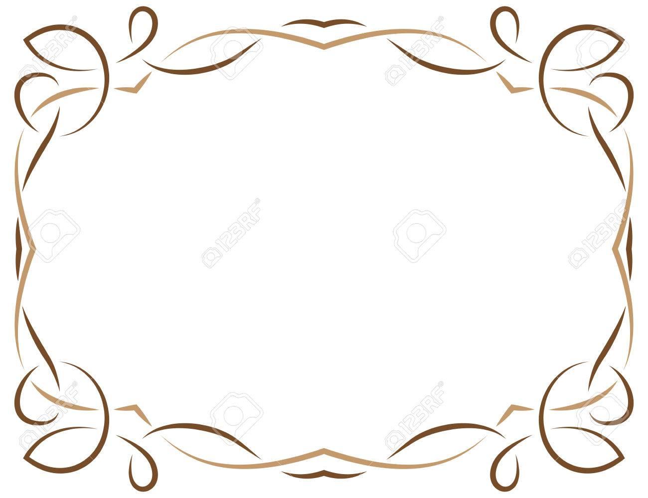 Múltiples Capas De Vector Elegante Marco De Color Marrón Sobre Un ...
