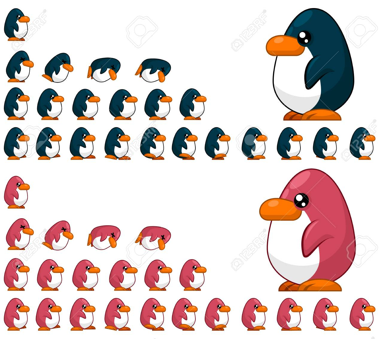 Animated Penguin game characters - 107336453