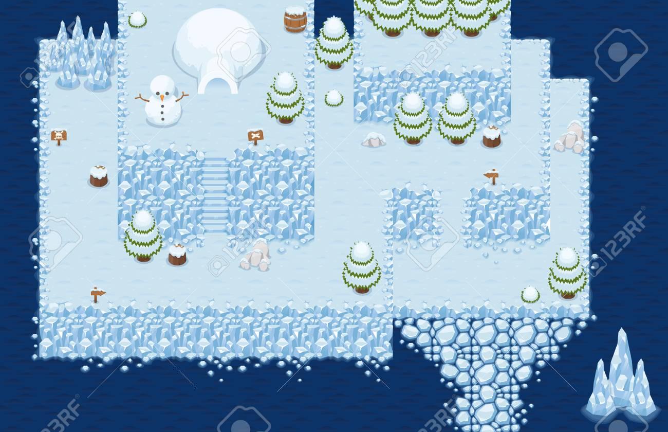 Winter Christmas Top Down Tileset - 107336589