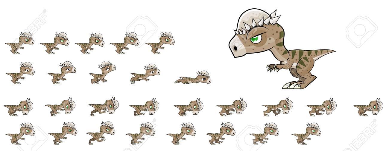 Pachycephalosaurus Game Sprites - 117609058