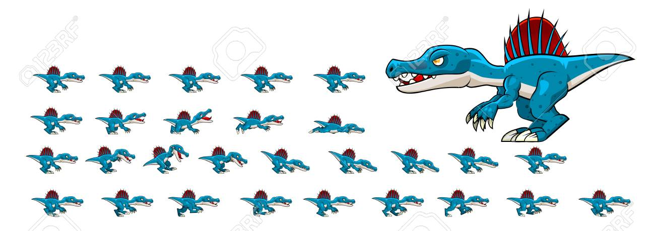 Spinosaurus Game Sprites - 117609073