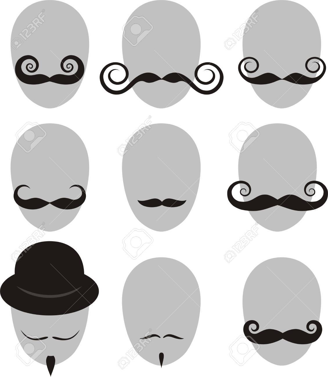 Mustaches and beard set Stock Vector - 12497272
