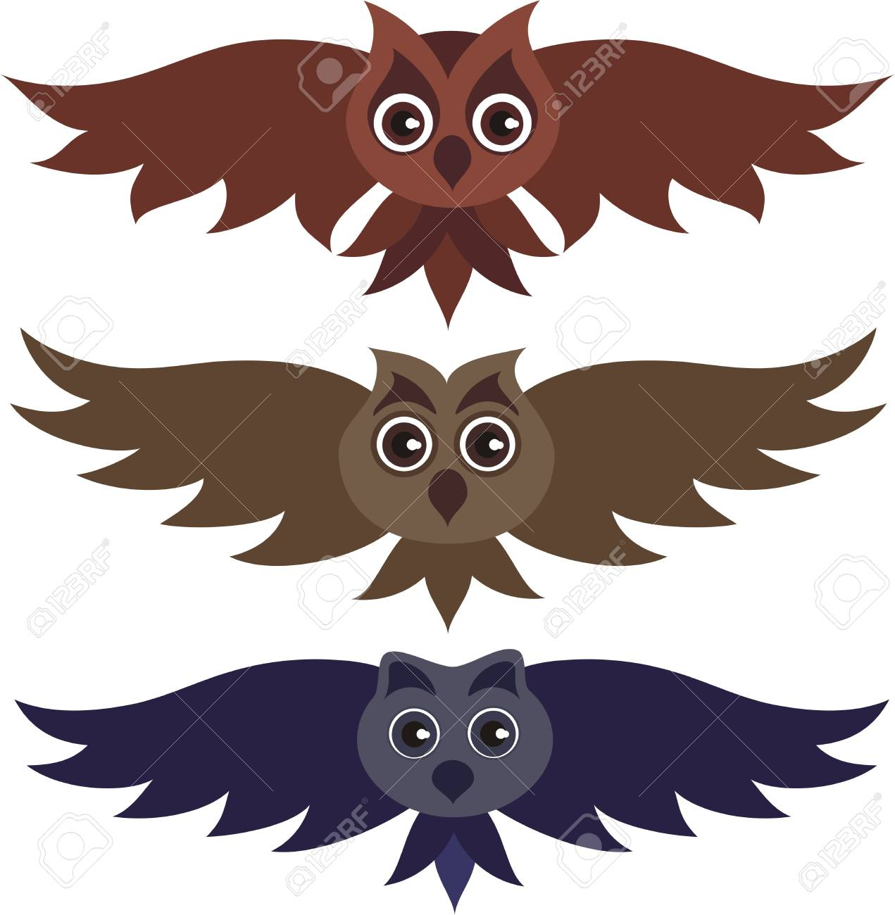Three vector owls Stock Vector - 12760920