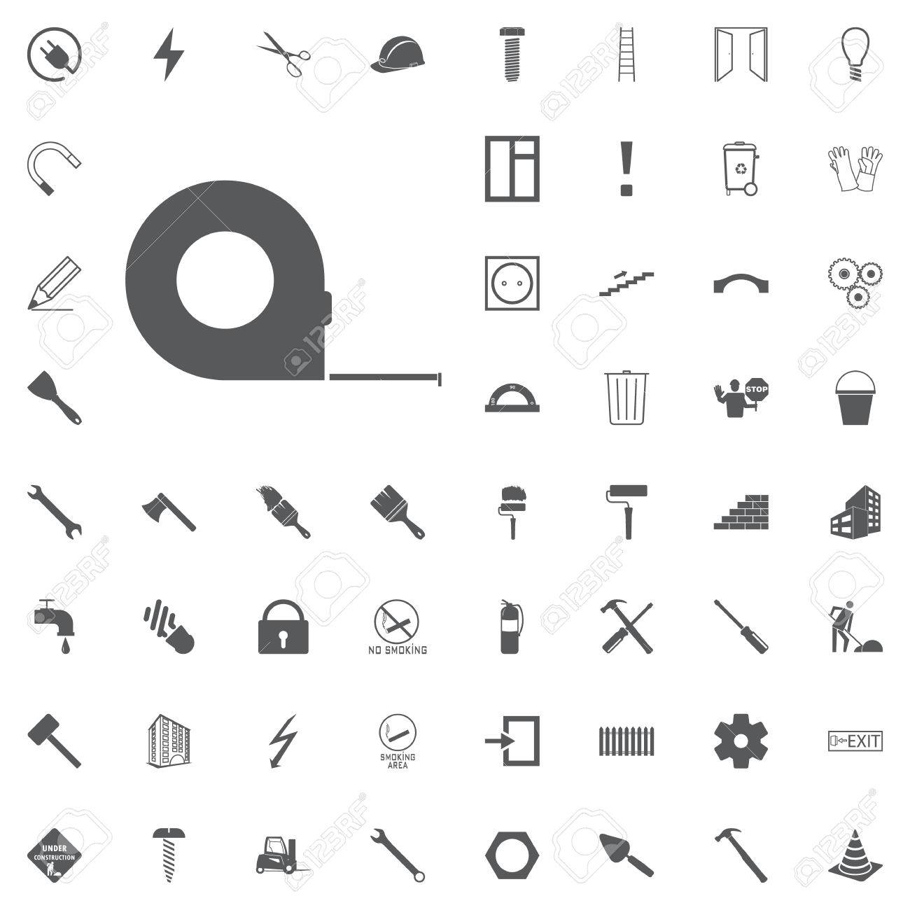 Measuring tape glyph icon roulette meter silhouette symbol roulette meter silhouette symbol construction tool renovation and repair biocorpaavc