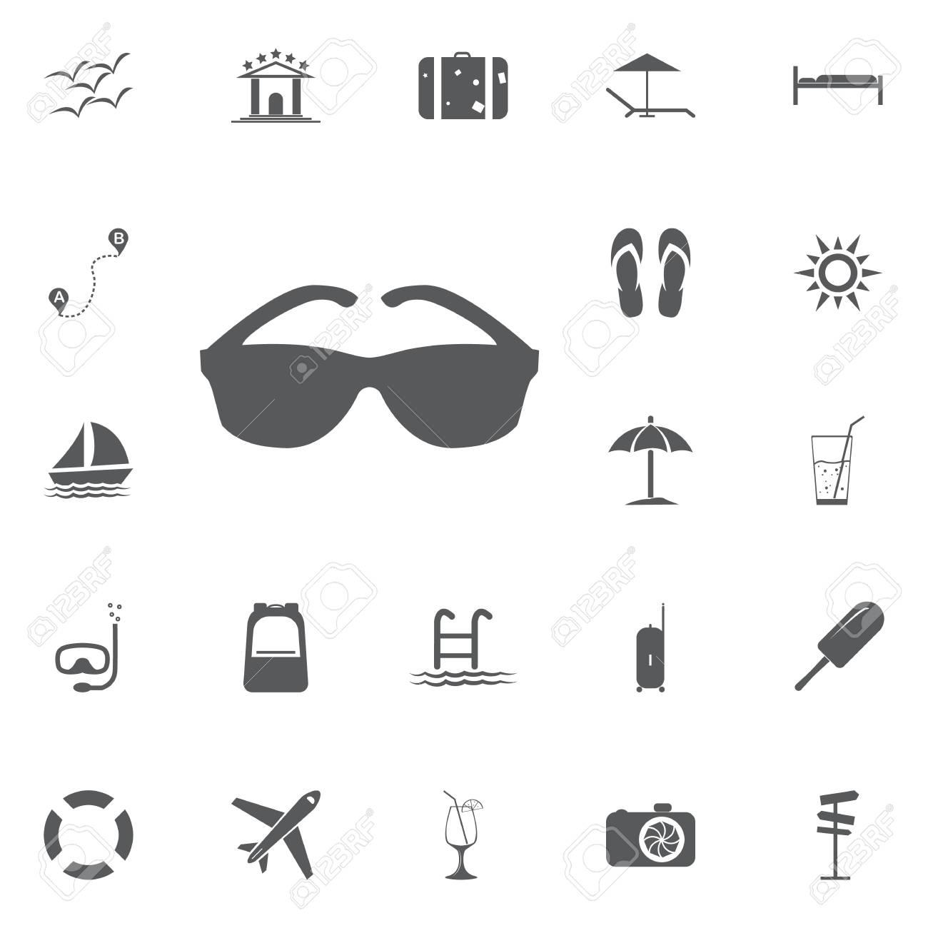 1b2ba956a8 Cool black cartoon sunglasses eye frames vector icon stock vector jpg  1300x1300 Glasses frames vector