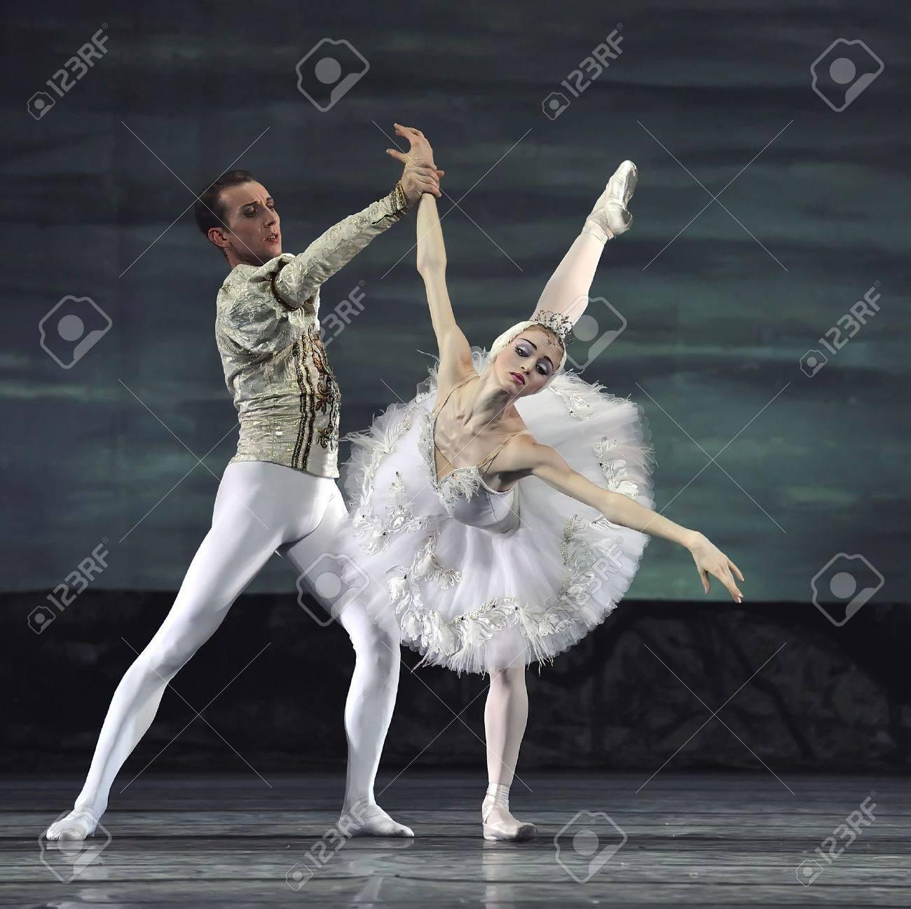 Russian royal ballet perform Swan Lake ballet at Jinsha theatre December 24, 2008 in Chengdu, China. Stock Photo - 8151481