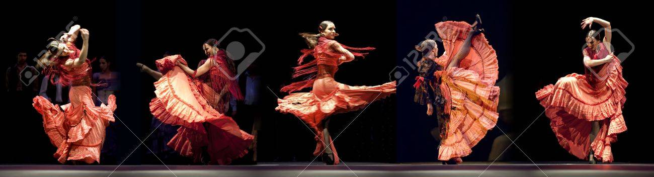 CHENGDU - DEC 28: The Ballet Troupe of Spanish Rafael Aguilar(Ballet Teatro Espanol de Rafael Aguilar) perform the best Flamenco Dance Drama  Stock Photo - 8161186