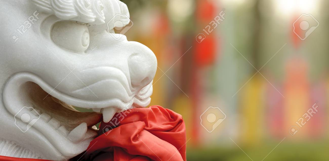 chinese traditional totem:lion sculpture Stock Photo - 8496340
