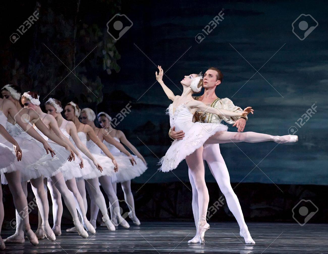 Swan Lake ballet performed by Russian royal ballet at Jinsha theater December 24, 2008 in Chengdu, China. Stock Photo - 9205303