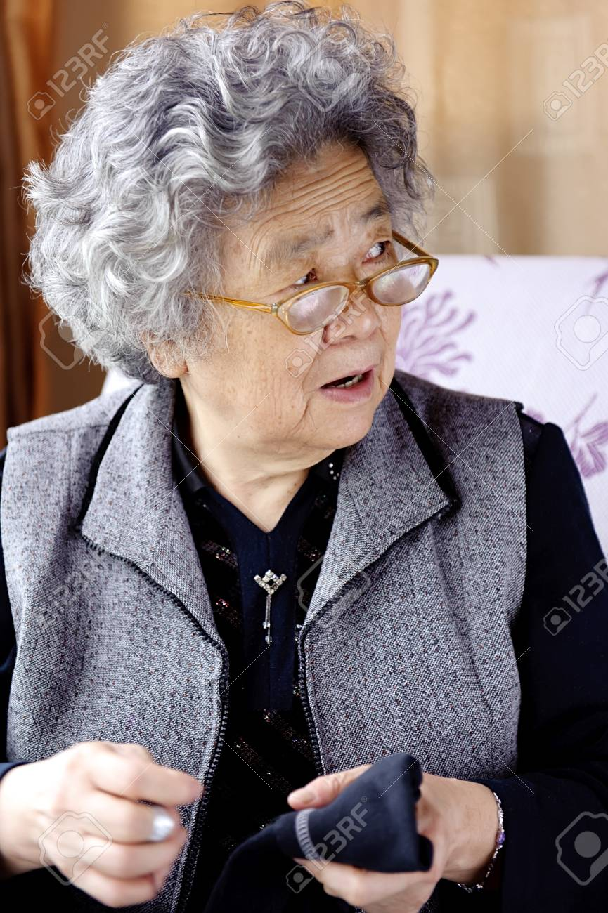 sewing grandmother Stock Photo - 10369221