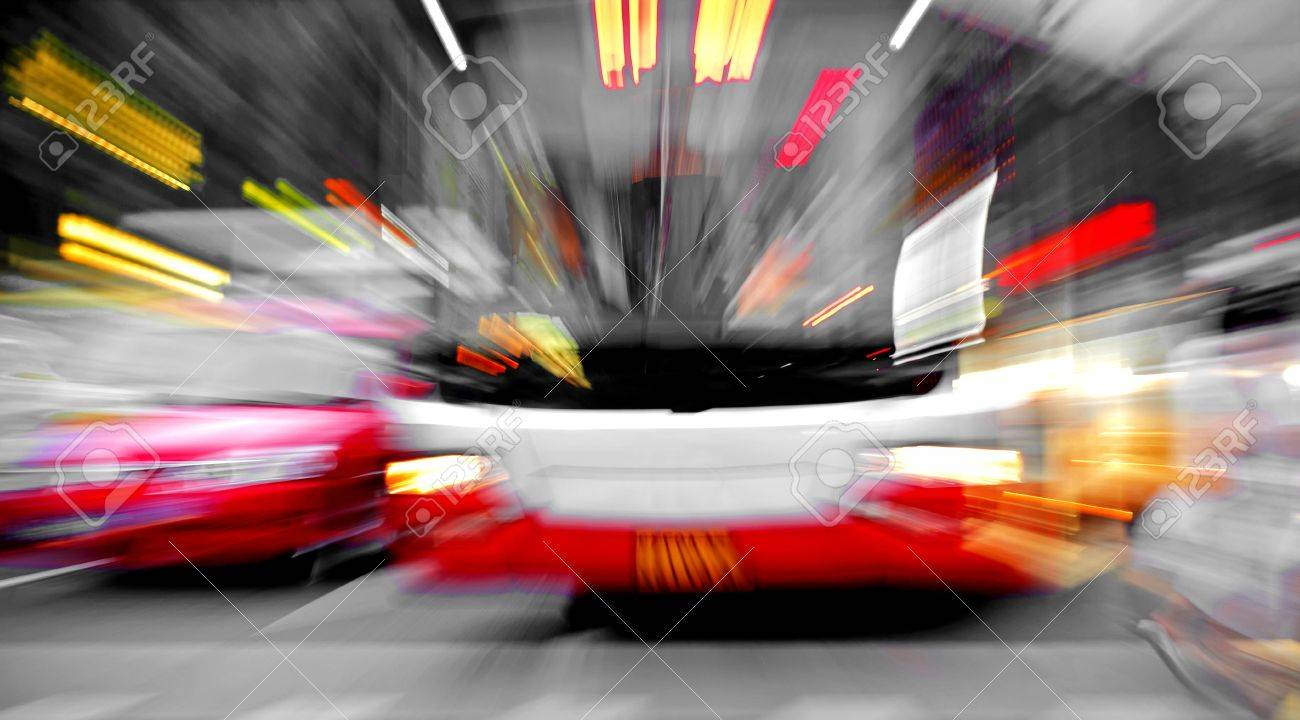 High speed bus radiant rays gives the forceful effect of visual impact Stock Photo - 12004170 & High Speed Bus Radiant Rays Gives The Forceful Effect Of Visual ...