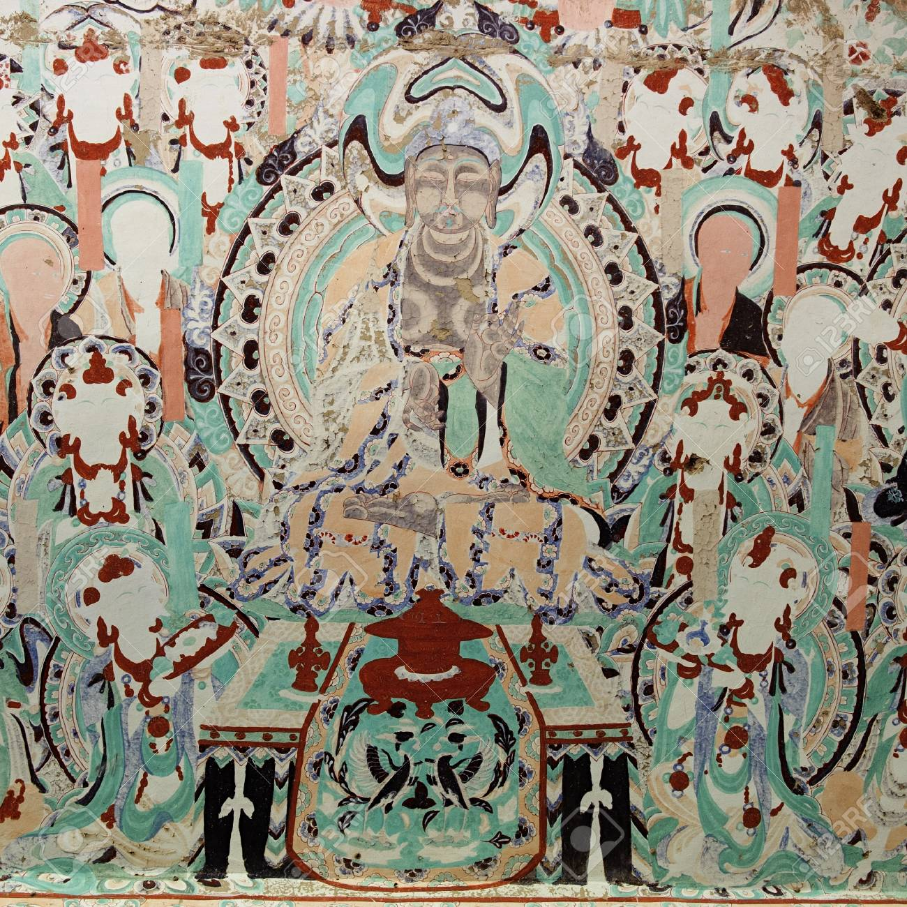 The frescos in the Mogao Grottoes of Dunhuang Stock Photo - 16903282