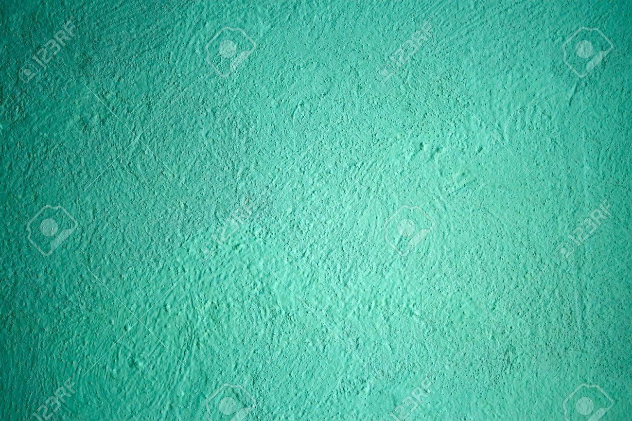 Fragment Van Geschilderde Gepleisterde Muren Met Turquoise Tinten ...