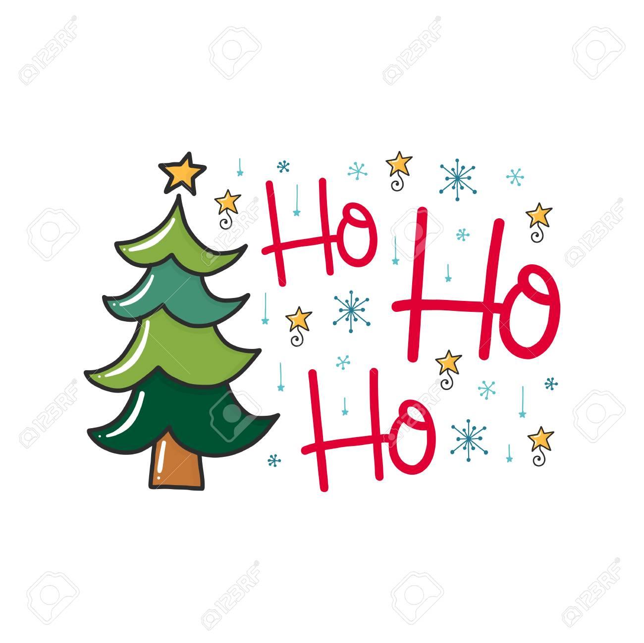Frases Hechas Para Navidad.Un Cartel De Navidad Vector Con Frase Arbol Y Elementos De Decoracion Tarjeta De Tipografia Imagen En Color Diseno Para Camiseta Y Estampados