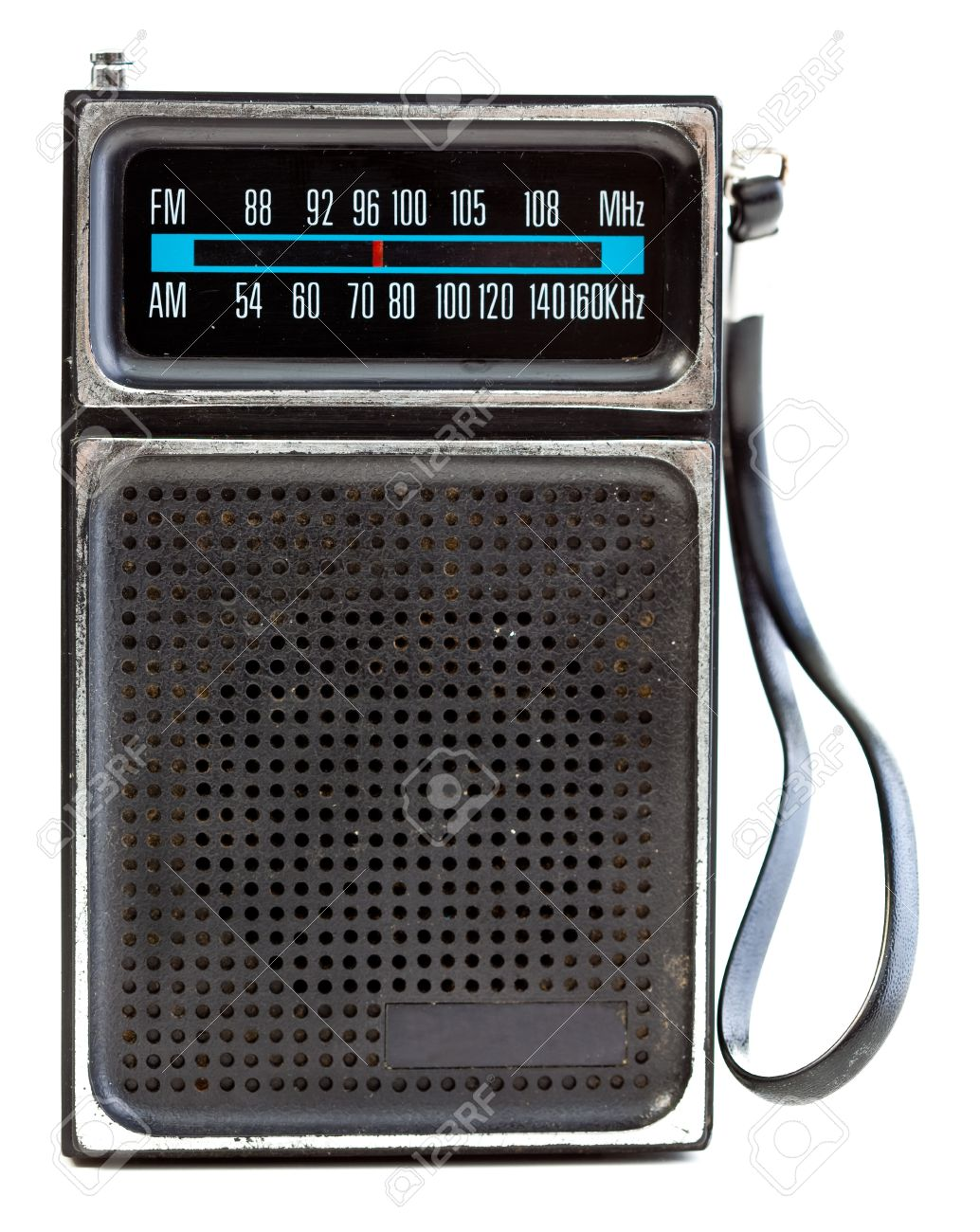 1960's era transistor radio isolated on a white background. Stock Photo - 9011511