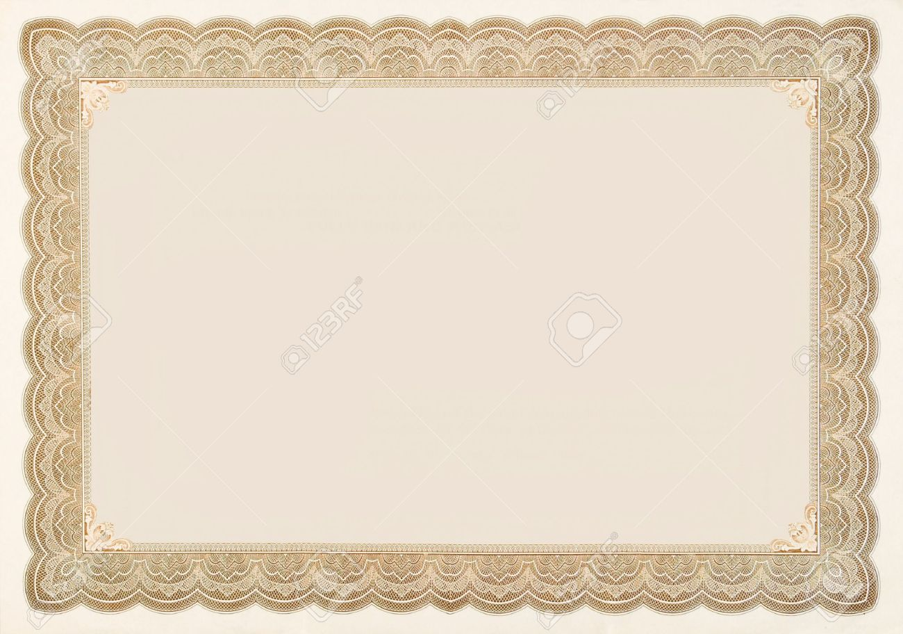 old stock certificate boarder the original content of the