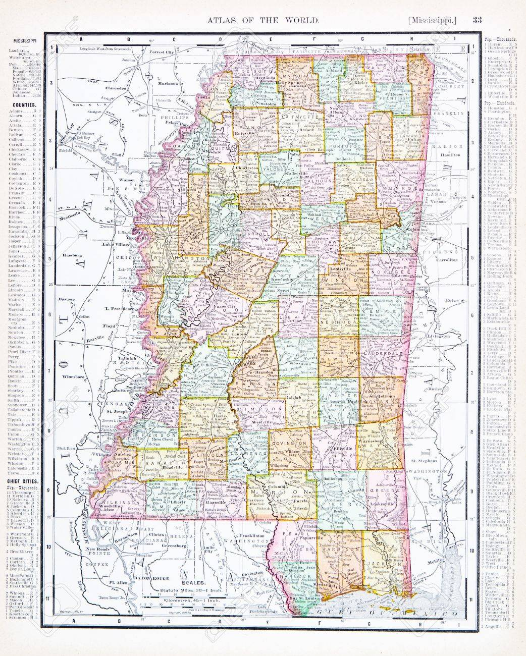 Mississippi Maps And Data MyOnlineMapscom MS Maps FileMap Of USA - Mississippi on us map
