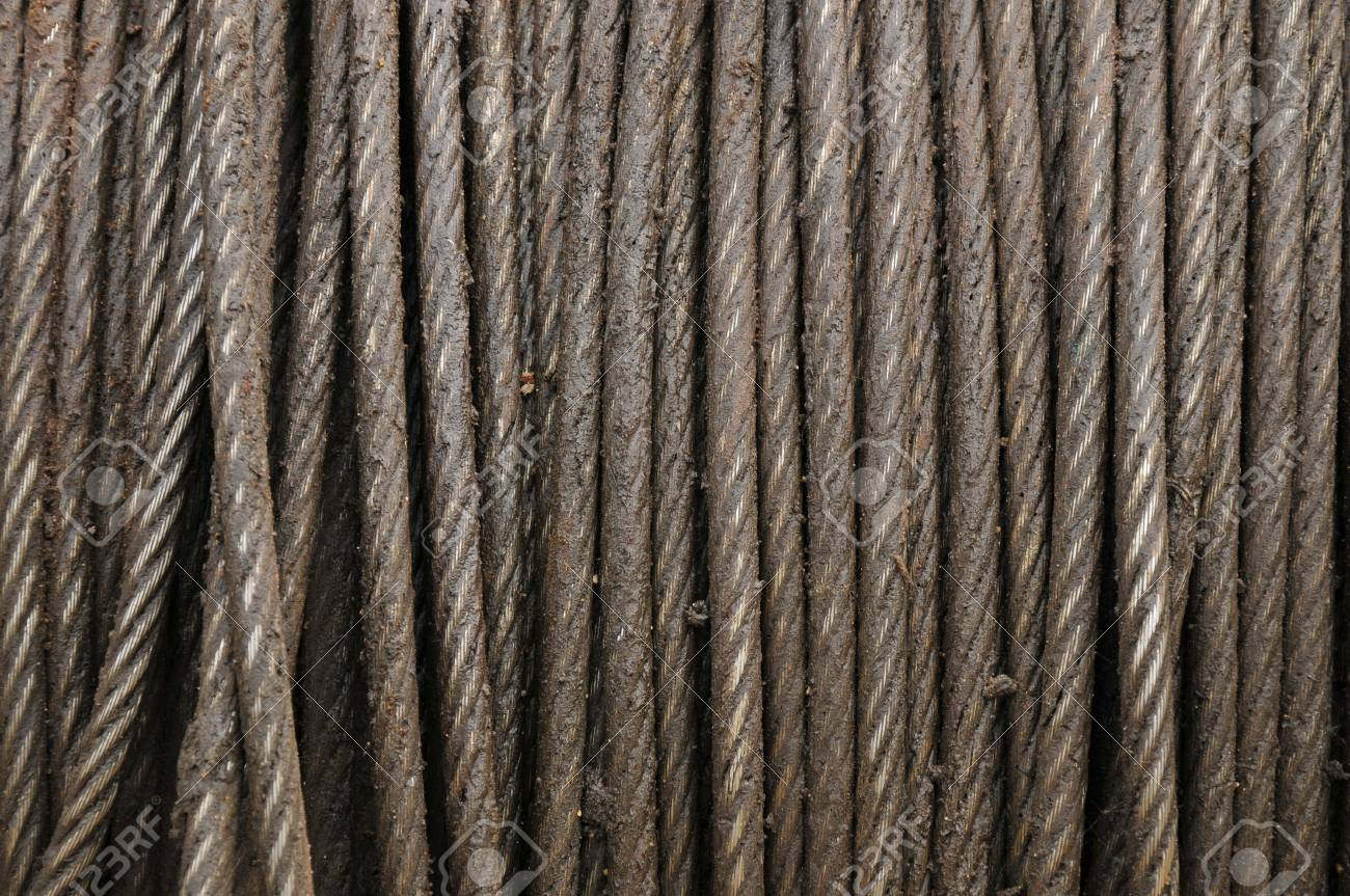 Wire Rope Structure, Heavy Steel Wire Cable Or Heavy Industrial ...