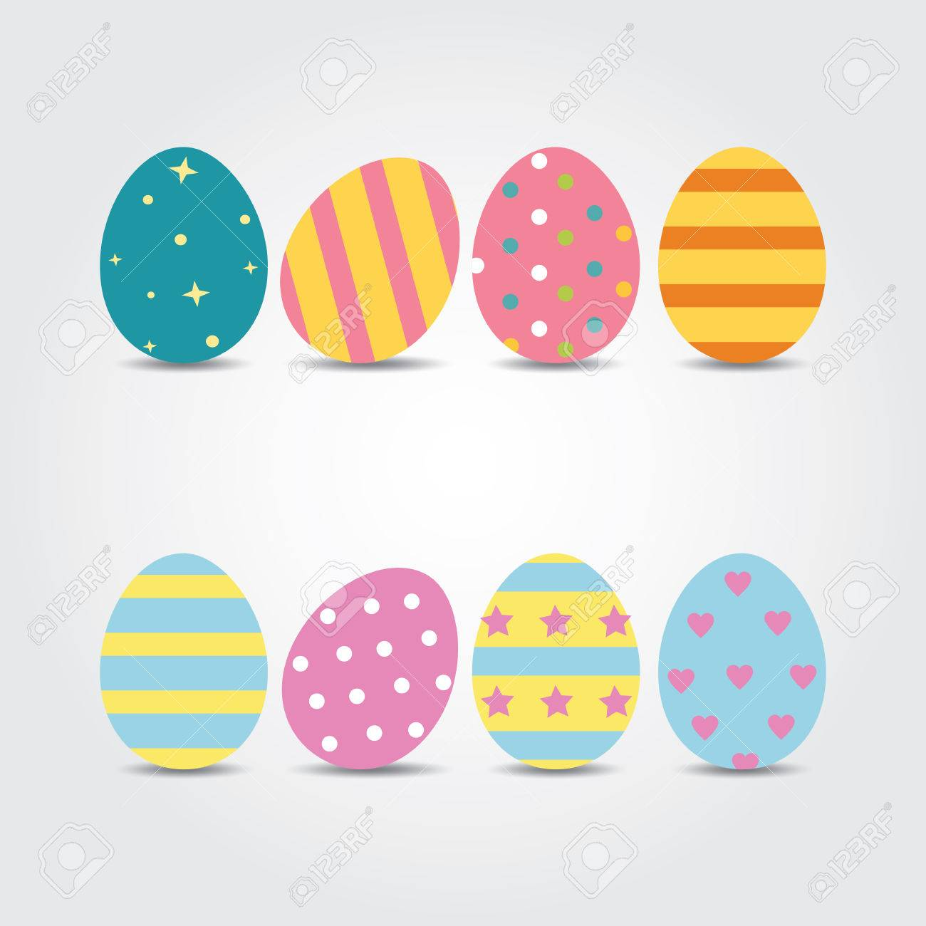 Easter Eggs Vector Illustration Easter Eggs Vector Icons Flat Royalty Free Cliparts Vectors And Stock Illustration Image 53841764
