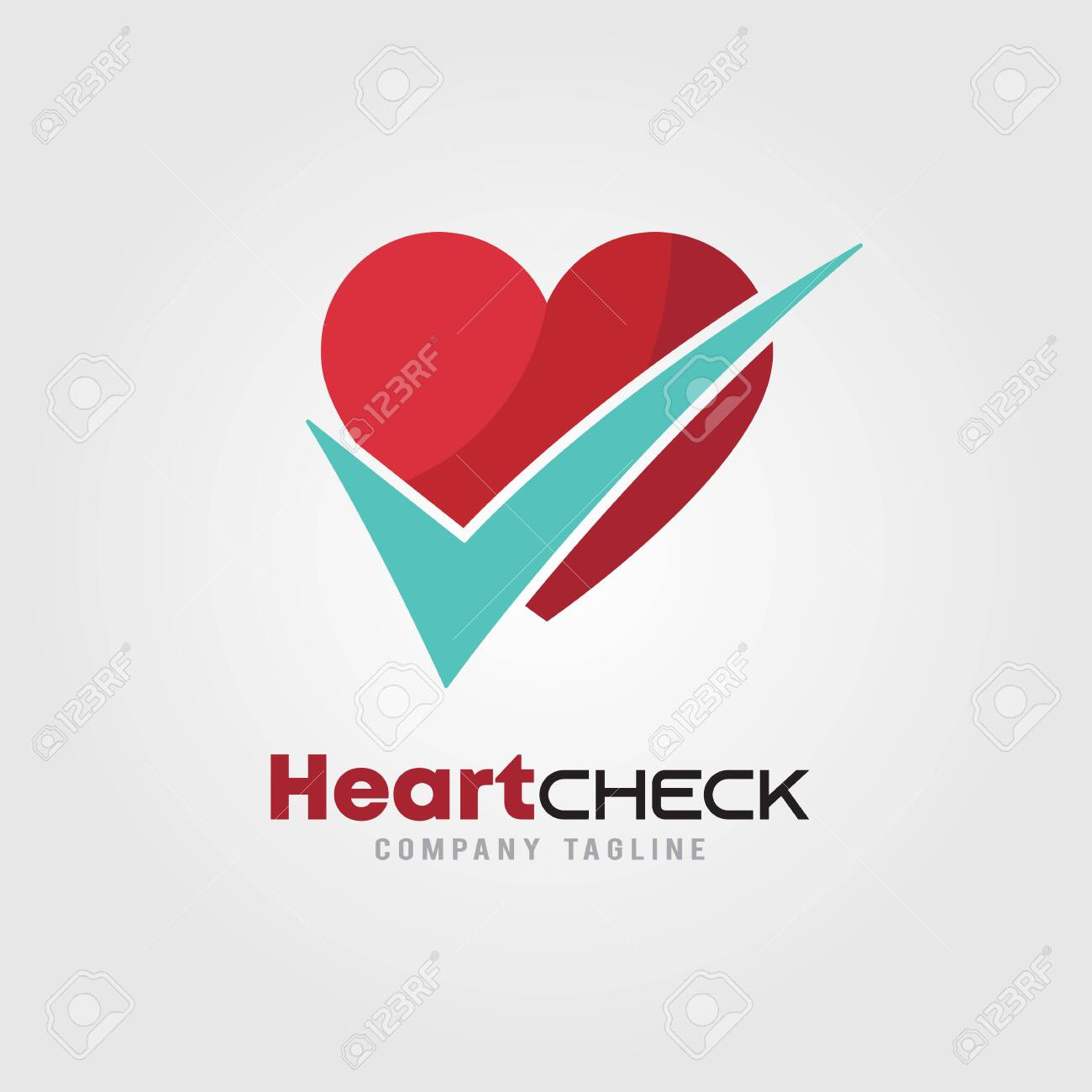 Heart Check Up With Heart Icons And Check Mark Logo Template Royalty Free Cliparts Vectors And Stock Illustration Image 122526673