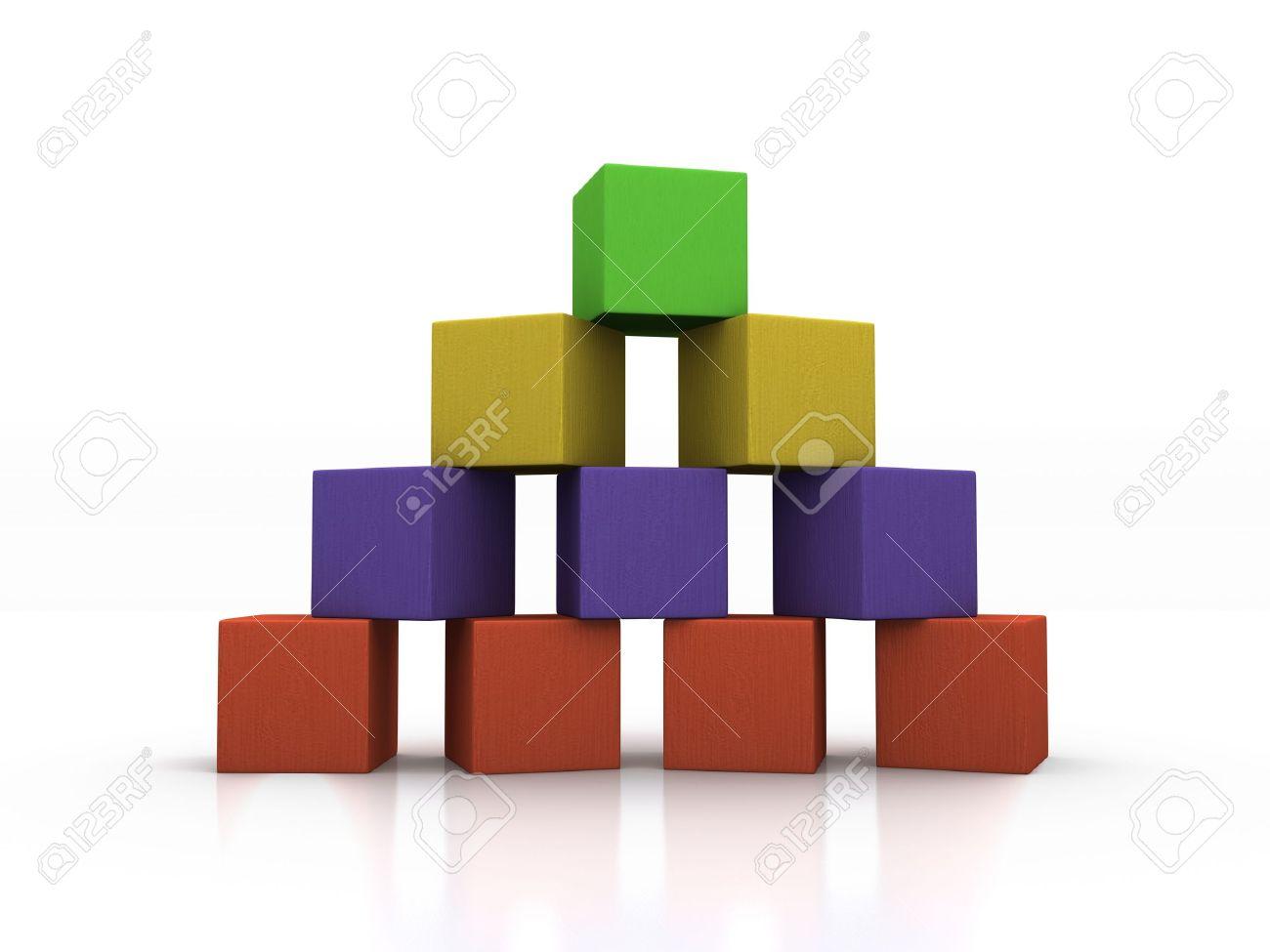 Pyramid of Blocks Stock Photo - 12782259