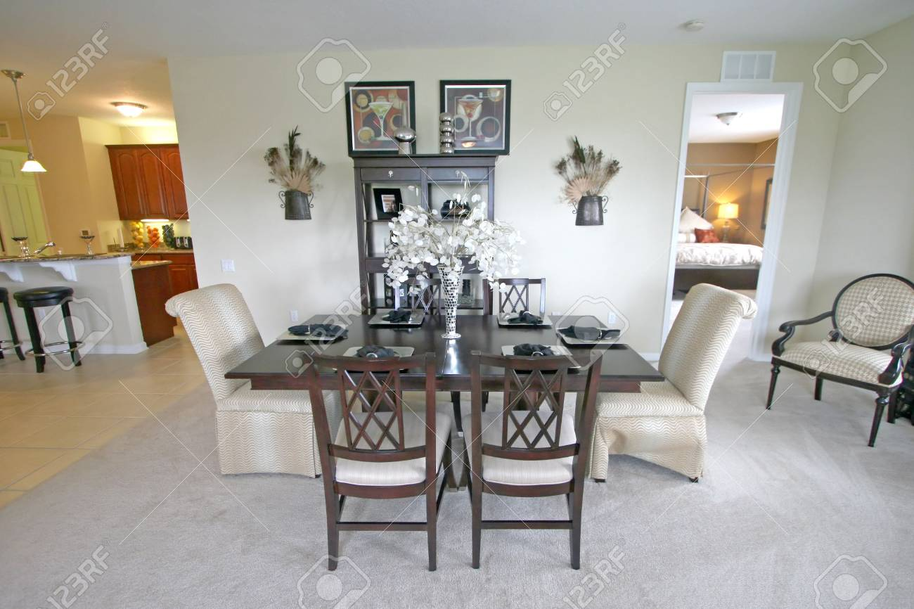 An Interior Shot of a Dining Area. Stock Photo - 5809841