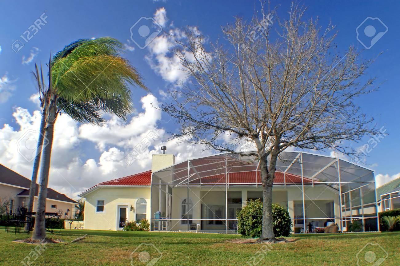 A back exterior of a Florida home. Stock Photo - 7476541
