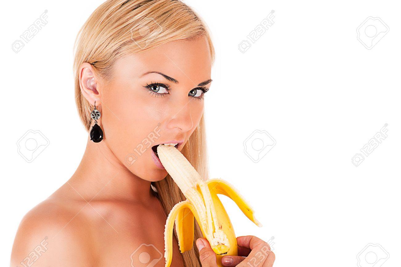Фото как девушка ест банан 4 фотография