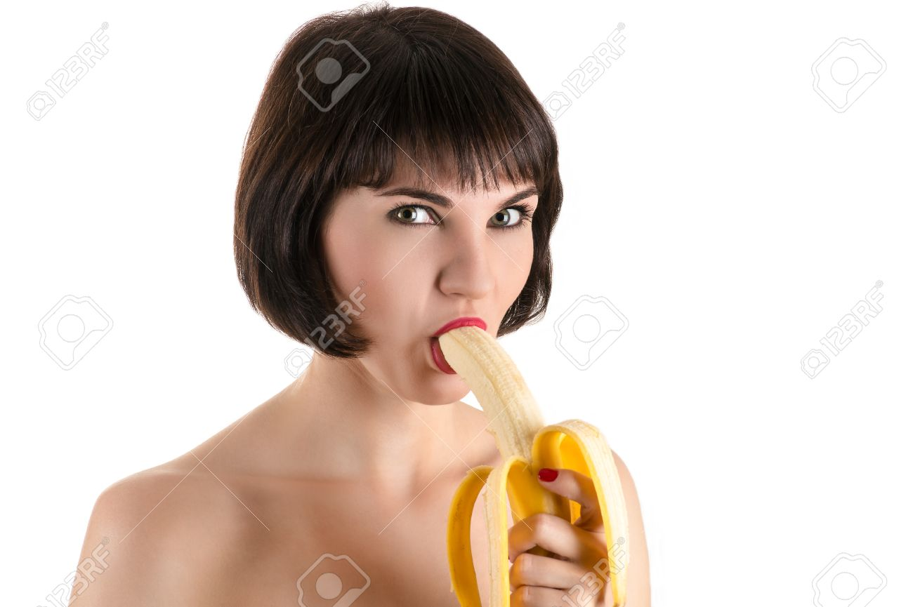 Фото как девушка ест банан 17 фотография