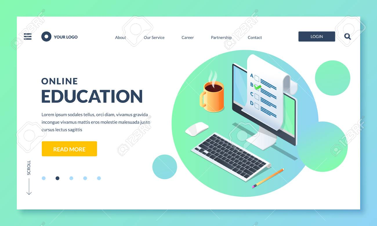 Online Education And Study Landing Page Or Banner Design Template Royalty Free Cliparts Vectors And Stock Illustration Image 117370023