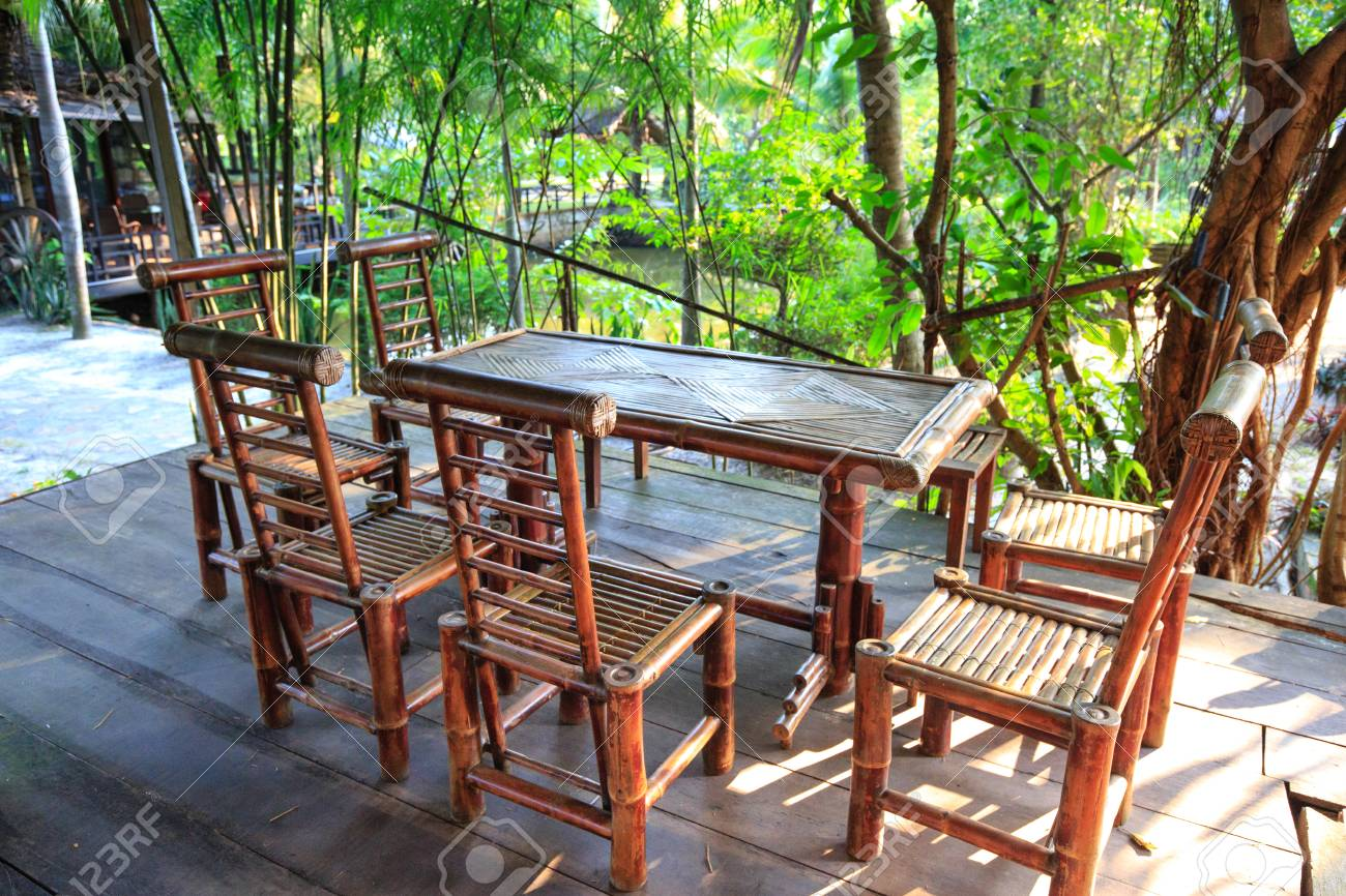Furniture Made From Bamboo Intended Garden Furniture Made From Bamboo Print Stock Photo 44896201 Garden Furniture Made From Bamboo Print Photo Picture And