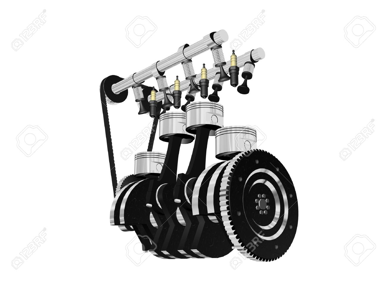 engine clear and big, isolated in high resolution Stock Photo - 5385301