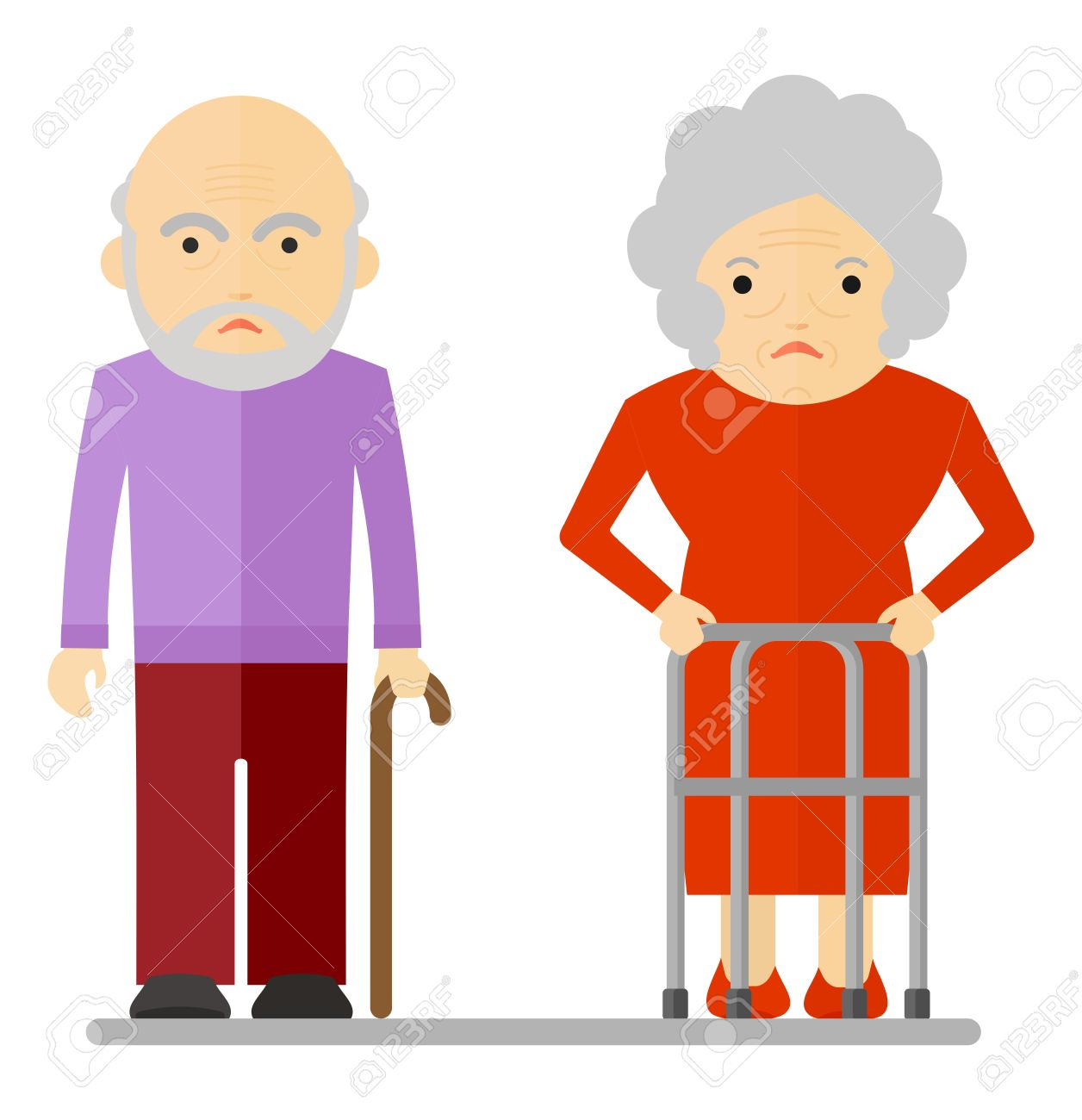 Image result for cartoon old people