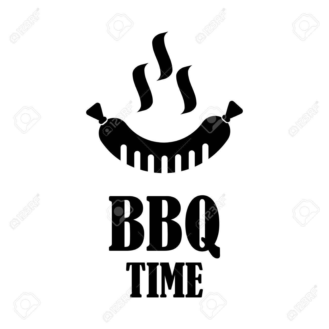 Dessin Barbecue ensemble de symboles et des étiquettes grill et barbecue noir