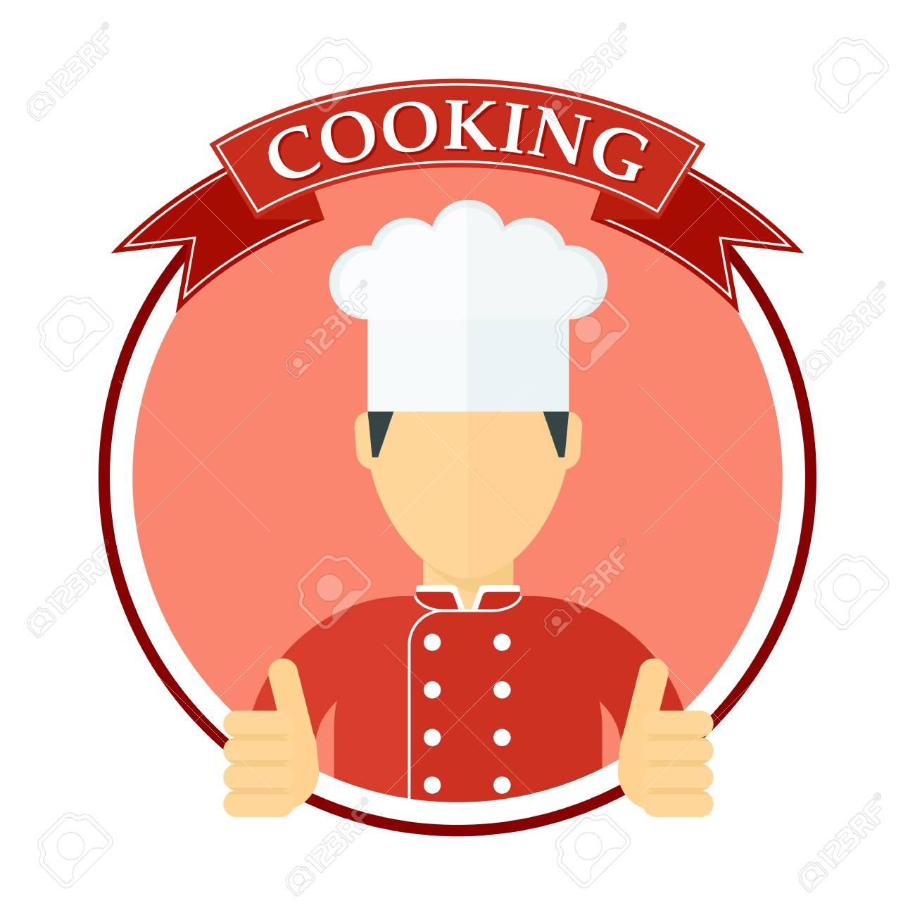 60006813-lo-chef-in-un-cappello-da-cuoco -modello-per-la-scheda-del-menu-brochure-presentazione-e-pubblicità-dei.jpg 8b059c97e51c