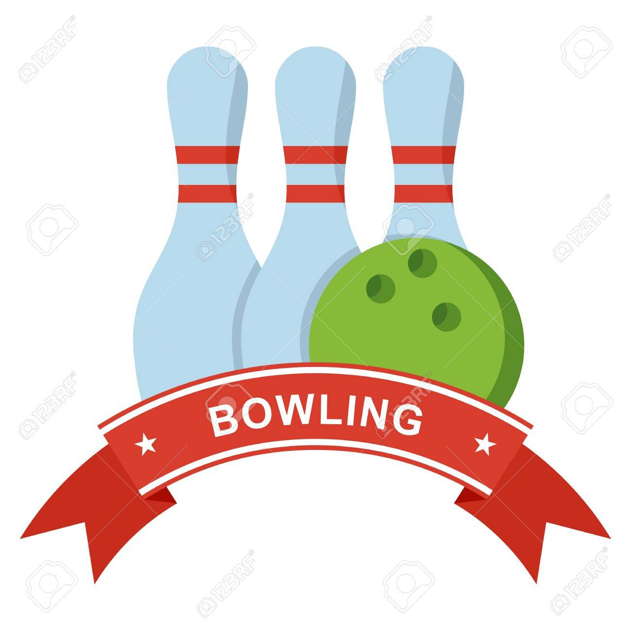 logo for the bowling tournament template for advertising brochures