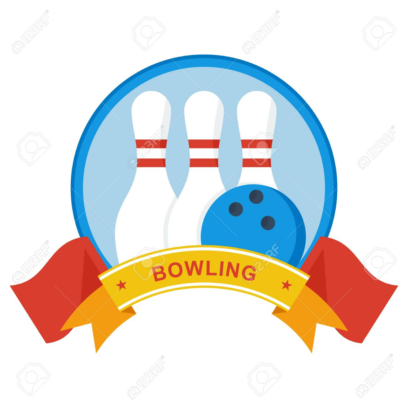 for the bowling tournament template for advertising brochures