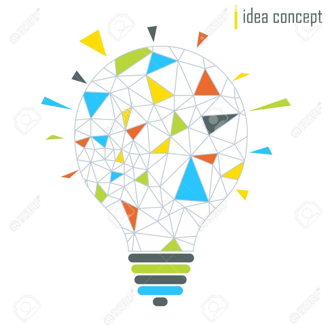 Vector Lamp. Connection Lines Icon. Idea Concept. Elements For ...